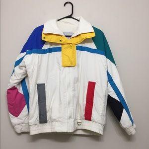 Jackets & Blazers - Retro 1990s colour block winter coat Sz M